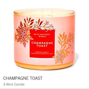 BRAND NEW 3-Wick Candle CHAMPAGNE TOAST